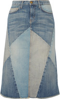 Current/Elliott The Patchwork denim skirt