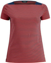 Ralph Lauren Woman Striped Cotton Boatneck Tee