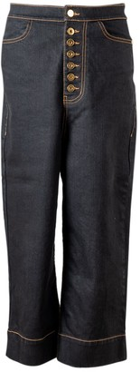 Ellery Blue Cotton - elasthane Jeans for Women