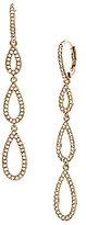 Nadri Pav Triple Teardrop Linear Earrings