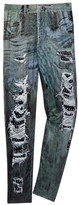 Hannah Banana Jean Printed Legging (Big Girls)