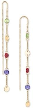 Rachel Roy Gold-Tone Multicolor Disc Linear Earrings