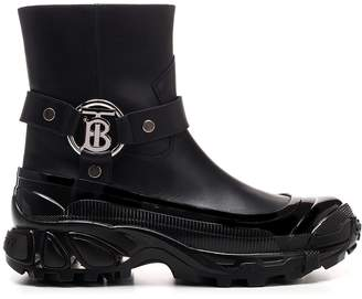 Burberry TB Buckle Ankle Boots