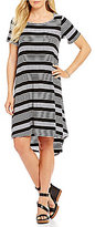Gibson & Latimer Hi-Lo Knit Dress with a Front Side Pocket