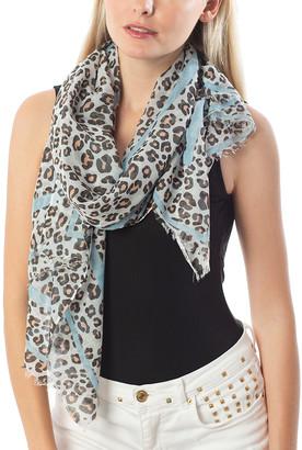 Barrington Women's Accent Scarves BLUE - Blue Leopard Oblong Scarf