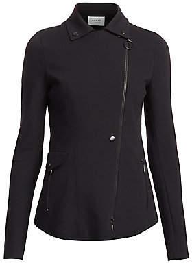 Akris Punto Women's Asymmetric Zip Jersey Jacket