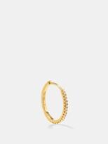 Maria Tash Eternity Diamond & 18kt Gold Hoop Single Earring - Womens - Yellow Gold