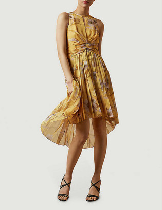 Ted Baker Cabana Fabulas pleated crepe midi dress
