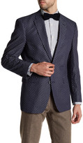 Tommy Hilfiger Navy Dotted Two Button Notch Lapel Cotton Jacket