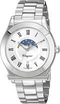 Salvatore Ferragamo Men's 'FERAGAMO 1898' Quartz Stainless Steel Casual Watch, Color:-Toned (Model: FBG040016)