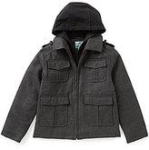 Class Club Big Boys 8-20 Flannel Military Jacket