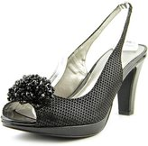 Karen Scott Brandyy Women US 8.5 Black Open Toe Slingback Heel