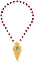 """Devon Leigh Station Necklace with Gold-Plated Pendant, 30""""L"""
