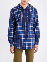 Balenciaga Hooded checked regular-fit flannel shirt