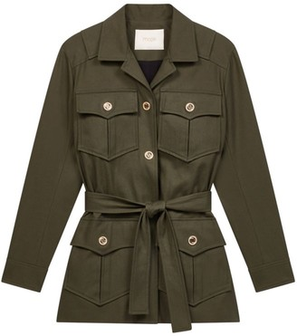 Maje Guesna Military-Style Jacket