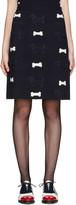 Thom Browne Navy Hector Appliqué Skirt