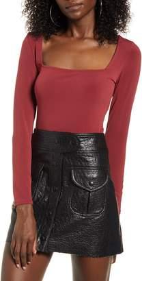 Leith Square Neck Long Sleeve Bodysuit