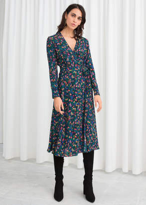 And other stories Jungle Print Wrap Dress