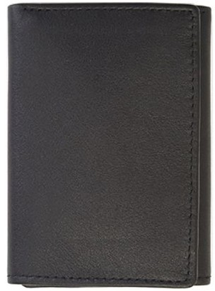 Royce Leather Royce New York Men's Leather Tri-Fold Wallet with ID Windows