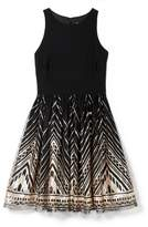 Vince Camuto Sequin-embellished Fit & Flare Dress