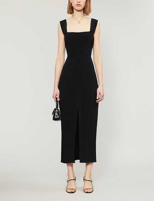 Reformation Graciella crepe midi dress