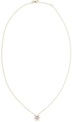 Selim Mouzannar 18kt Rose Gold Round Diamond And White Enamel Pendant Necklace