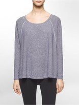 Calvin Klein Performance Stripe Batwing Long Sleeve Top
