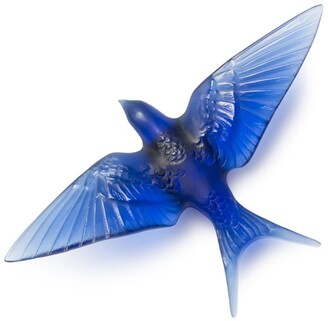Lalique Crystal Hirondelles Swallow Wall Sculpture