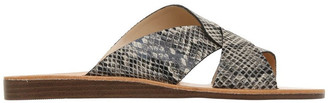 Piper Mali Snake Print Leather Sandal