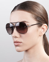 Francoise Metal Aviator, Light Gold/Brown
