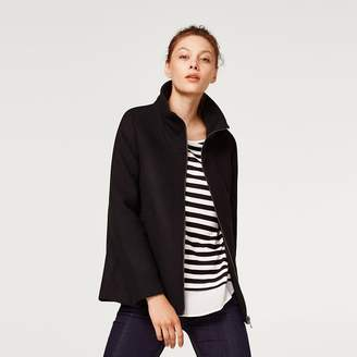 Esprit Short Zip-Up Coat with Stand-Up Collar