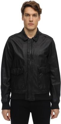 Schott Zip-Up Washed Leather Jacket