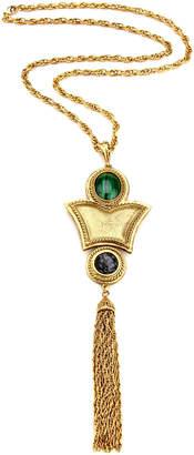 Ben Amun Stone & Tassel Necklace