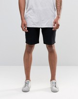 Asos Jersey Shorts In Super Skinny Fit In Black