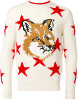 MAISON KITSUN�� fox head jumper - men - Wool - S