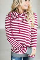Ampersand Avenue CowlHood Sweatshirt - Raspberry
