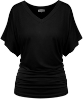 BB Black Flutter-Sleeve Tee - Plus Too