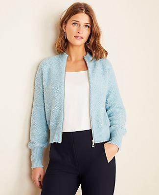 Ann Taylor Petite Knit Zip Jacket