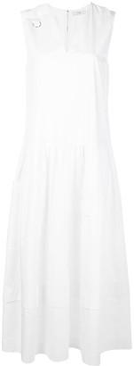 Tibi Eco Poplin Split Neck Dress