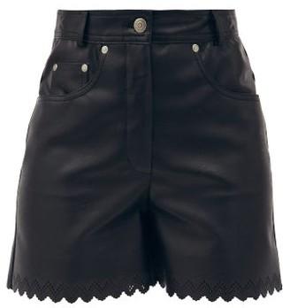 Stella McCartney Maddox Scalloped-edge Faux-leather Shorts - Black