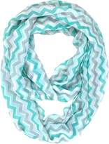Tapp Collections Tapp C. Multicolor Feather Print Infinity Scarf - Teal