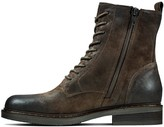 Clarks Jenna Lace-Up Suede Ankle Boot - Dark Brown