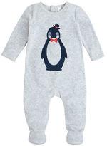 Petit Lem Holiday Penguin Velour Footie
