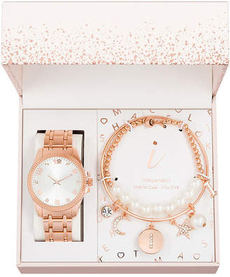 ALEXIS BENDEL Alexis Bendel I Initial Womens Rose Goldtone 3-pc. Watch Boxed Set-7587r-42-B29