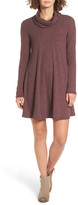 Socialite Maddie Rib Knit Cowl Shift Dress