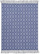 Greek Dorm Essential Throw, 46 x 56, Twilight Blue Print