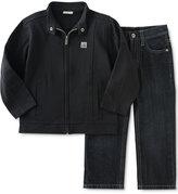 Calvin Klein Baby Boys' 2-Pc. Moto Jacket & Jeans Set