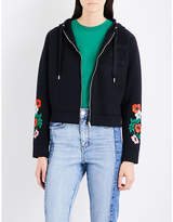Maje Toria embroidered jersey hoody