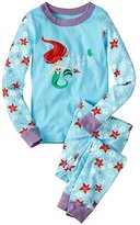 Kids Disney Princess Long John Pajamas In Organic Cotton