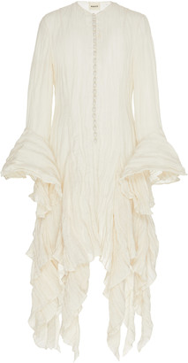 KHAITE Elliot Ruffled Gauze Dress